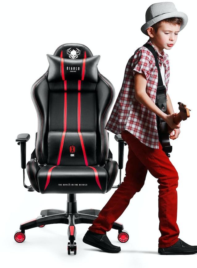 Detské otočné herné kreslo Diablo X-One 2.0 Kids Size: čierno-červené  Diablochairs