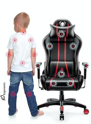 Scaun pentru copii Diablo X-One 2.0 Kids Size: negru-roșu Diablochairs