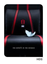 Herní židle Diablo X-One 2.0 Kids Size: černo-červená Diablochairs