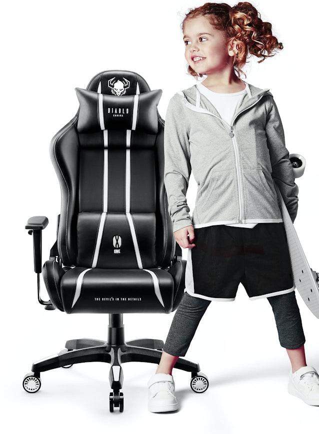 Fotel dziecięcy Diablo X-One 2.0 Kids Size: Czarno-biały