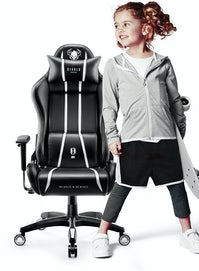 Kinder Schreibtischstuhl Diablo X-One Kids Size: Schwarz-Weiß
