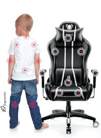 Detské otočné herné kreslo Diablo X-One 2.0 Kids Size: čierno-biele Diablochairs