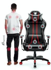Herní židle Diablo X-One 2.0 King Size: černo-červená Diablochairs