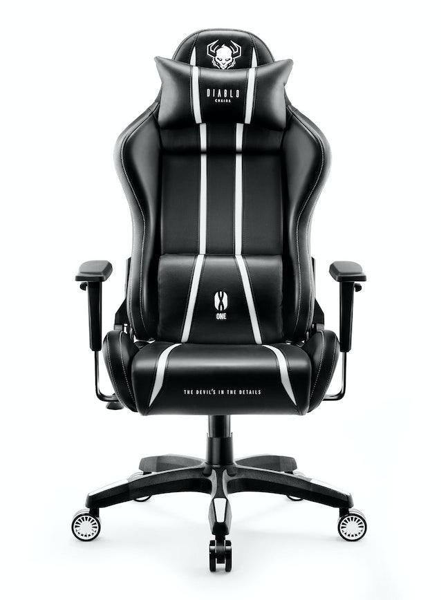 Scaun gaming Diablo X-One King Size: negru-alb Diablochairs