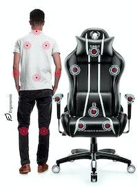 Herní židle Diablo X-One 2.0 King Size: černo-bílá Diablochairs