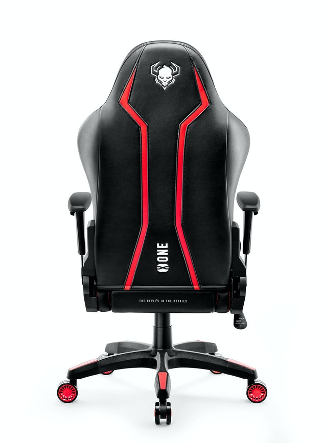 Fotel gamingowy Diablo X-One 2.0 Normal Size: Czarno-czerwony