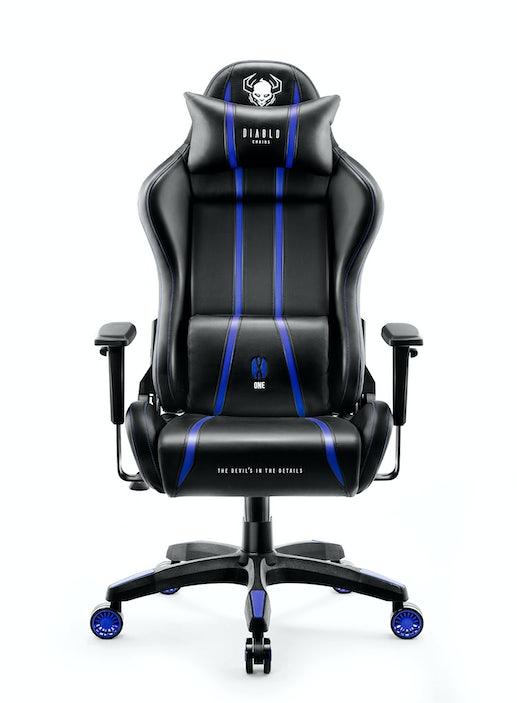 Herné kreslo Diablo X-One 2.0 Normal Size: čierno-modré Diablochairs
