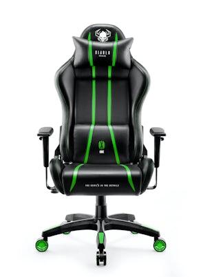 Scaun de gaming Diablo X-One 2.0 Normal Size: Negru-verde Diablochairs