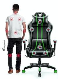Herní židle Diablo X-One 2.0 Normal Size: černo-zelená Diablochairs