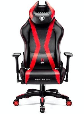 Fotel gamingowy Diablo X-Horn 2.0 Normal Size: Czarno-czerwony