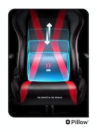 Herní židle Diablo X-Horn 2.0: King Size: černo-červená Diablochairs