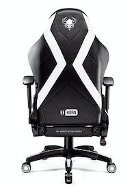 Fotel gamingowy Diablo X-Horn 2.0 King Size: Czarno-biały