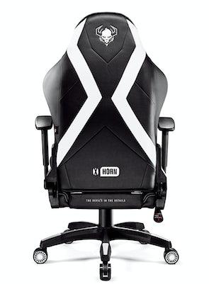 Gaming Stuhl Diablo X-Horn 2.0 King Size: Schwarz-Weiß
