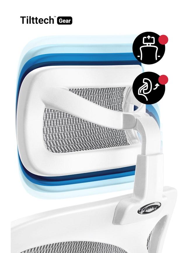 Kancelárska ergonomická stolička DIABLO V-BASIC: bielo-šedá Diablochairs