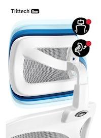 DIABLO V-BASIC ergonomikus irodai szék: Fehér-szürke Diablochairs