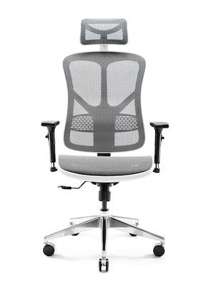 Ergonomická židle DIABLO V-BASIC: bílo-šedá Diablochairs