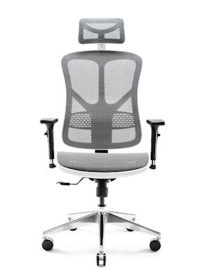 Ergonomischer Bürostuhl DIABLO V-BASIC: Weiß-Grau