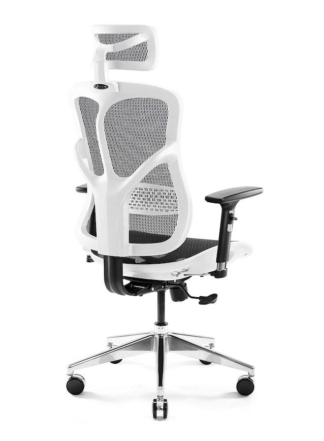 Kancelárska ergonomická stolička DIABLO V-BASIC: bielo-čierna Diablochairs