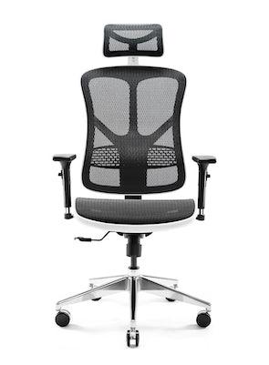 Scaun ergonomic DIABLO V-BASIC: Alb-negru Diablochairs