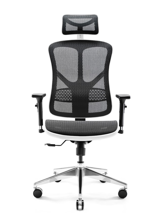 DIABLO V-BASIC ergonomikus irodai szék: Fehér-fekete Diablochairs