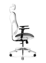 Fotel ergonomiczny DIABLO V-BASIC: biało-czarny