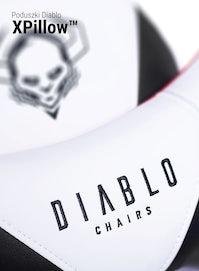 Herné kreslo Diablo X-Ray King Size: Bielo-čierne Diablochairs