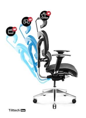 Ergonomischer Bürostuhl DIABLO V-COMMANDER: schwarz