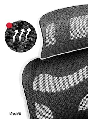 Kancelářská ergonomická židle Diablo V-Commander bílo-černá Diablochairs