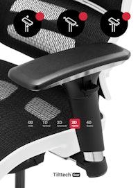 Fotel ergonomiczny DIABLO V-COMMANDER : biało-czarny