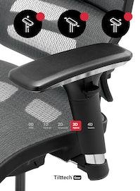 Kancelárska ergonomická stolička DIABLO V-COMMANDER : čierno-šedá  Diablochairs