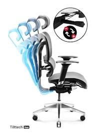 Fotel ergonomiczny DIABLO V-COMMANDER : czarno-szary