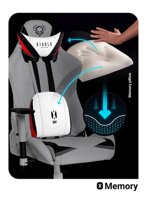 Scaun pentru copii Diablo X-Ray Kids Size: alb-negru Diablochairs