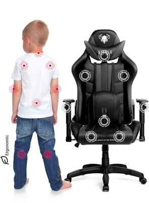 Detské otočné herné kreslo Diablo X-Ray Kids Size: čierne Diablochairs