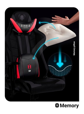 Fotel gamingowy Diablo X-Ray Normal Size: Czarno-czerwony