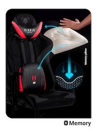 Scaun gaming Diablo X-Ray Normal Size: negru-roșu Diablochairs