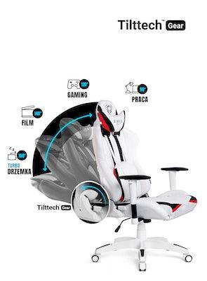 Fotel gamingowy Diablo X-Ray Normal Size: Biało-czarny