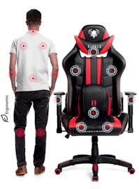 Scaun gaming Diablo X-Ray King Size: negru-roșu Diablochairs