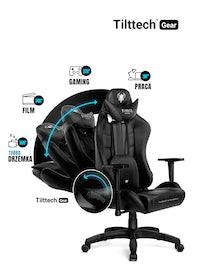 Fotel gamingowy Diablo X-Ray King Size: Czarno-szary