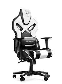 Gaming Stuhl Diablo X-Fighter Normal Size: Schwarz-Weiß