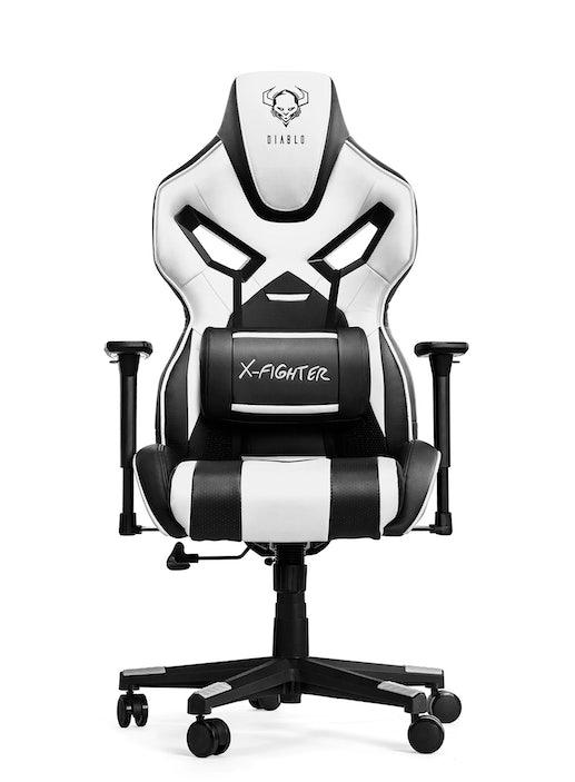 Fotel gamingowy Diablo X-Fighter Normal Size: Czarno-biały