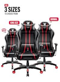 Gaming Stuhl Diablo X-One Kids Size: Schwarz-Rot