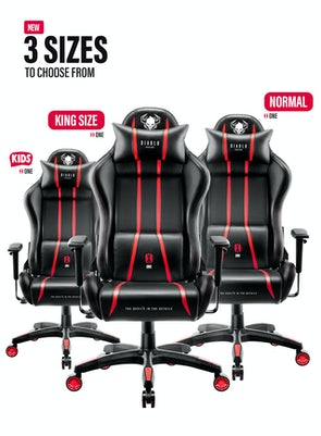 Herné kreslo Diablo X-One 2.0 King Size: čierno-červené Diablochairs