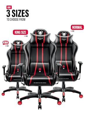Gaming Stuhl Diablo X-One 2.0 King Size: Schwarz-Rot