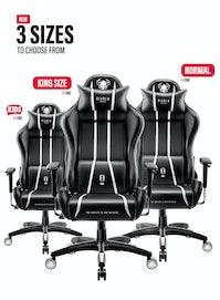 Herné kreslo Diablo X-One 2.0 King Size: čierno-biele Diablochairs