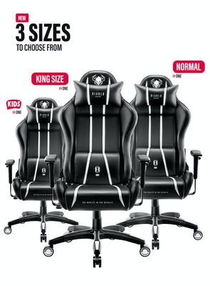 Gaming Stuhl Diablo X-One 2.0 King Size: Schwarz-Weiß