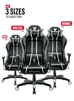 Herní židle Diablo X-One 2.0 Normal Size: černo-bílá Diablochairs