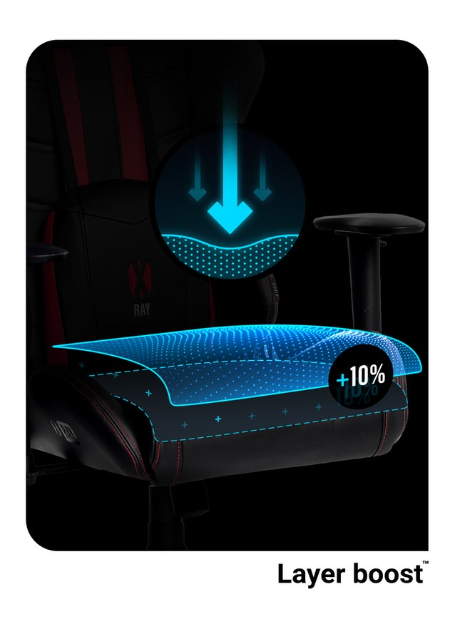 X-Ray gamer szék Normal Size: Fekete-piros Diablochairs