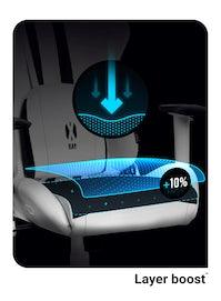 Dětská otočná herní židle Diablo X-Ray Kids Size: bílo-černá Diablochairs