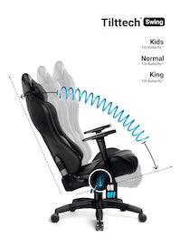 Dětská otočná herní židle Diablo X-Ray Kids Size: černá Diablochairs