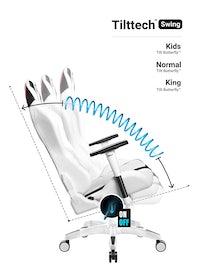 Gaming Stuhl Diablo X-Ray King Size: Weiß